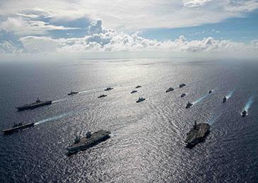 台媒:解放军大机群针对英美舰队